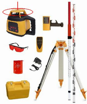 Spot-On Rotary Laser Level 300 On-Site Set - Promotion Rotary Lasers