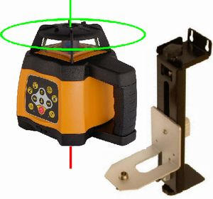 Spot-On Rotary Laser Level 500 Shopfitter's Set Rotary Lasers
