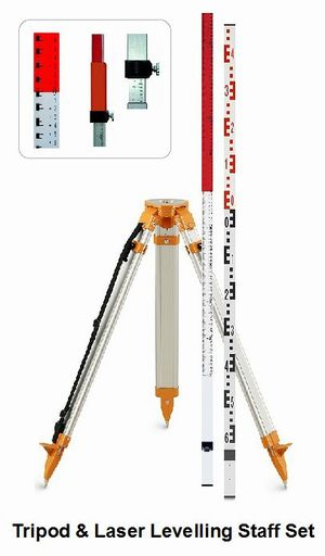 Tripod & Staff Set (for Rotary Laser Level) Tripods