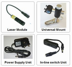 Spot-On Red Alignment Laser 100mW Sets (Line, Cross or Spot) Alignment Lasers