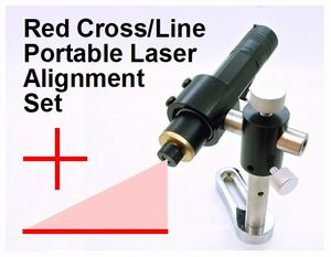 Spot-On Red Cableless Laser Alignment Set (3-in-1: Line, Cross & Spot) Alignment Lasers