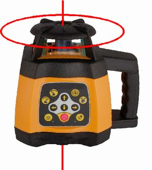Spot-On Rotary Laser Level 500 Red Rotary Lasers